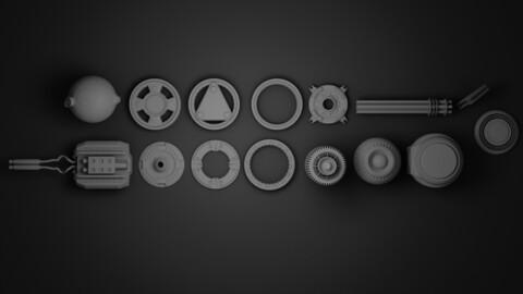 Kitbash hardsurface kit