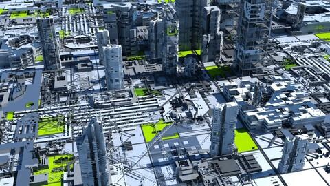 Sci-Fi Tech City