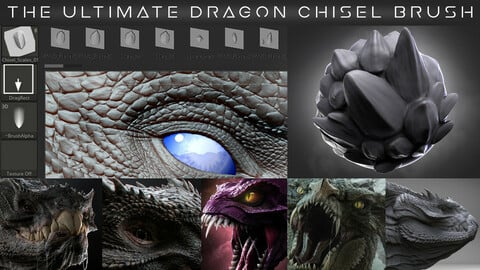 The Ultimate Dragon Scale VDM Chisel Brush Pack 1