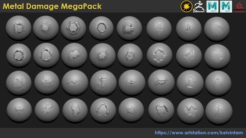 Metal Damage MegaPack (pack 2)