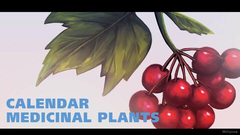 Medicinal Calendar - print ready (CMYK, 300 dpi)