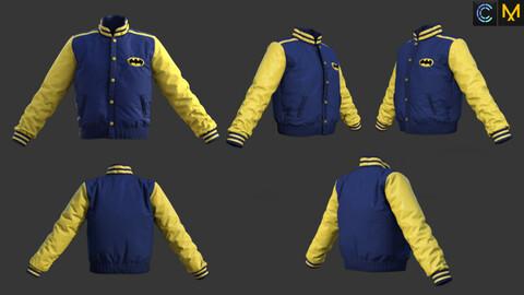 Bomber jacket- ZPRJ+OBJ-Marvelous Designer & CLO3d