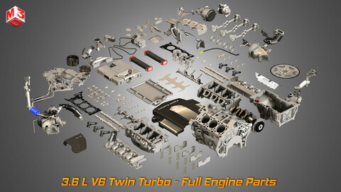 Twin Turbo V6 Engine Parts