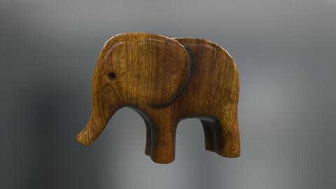 Wooden Toy Elephant