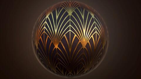 Art Deco Pattern Material