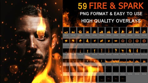 Dynamic Fire Photo FX  Texture Bundle Set