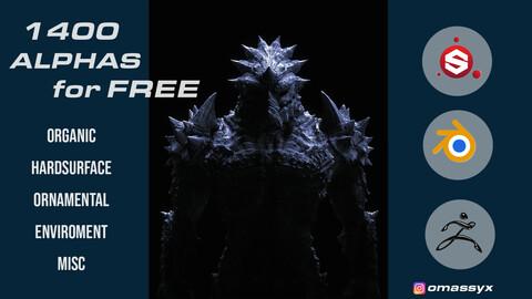 1400 Megapack free Alphas. Enjoy! :)
