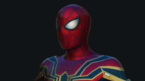 IRON SPIDER MAN High poly Ztool