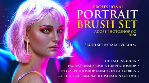 Portrait Brushes for Photoshop