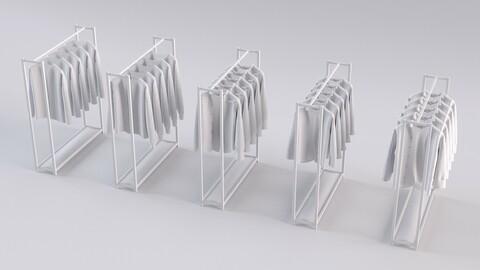 5 unisex shirts rack