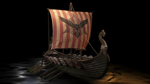 Viking boat - viking ship- longship