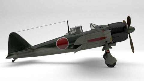 Japanese A6M5 Zero -WWII Fighter- PBR