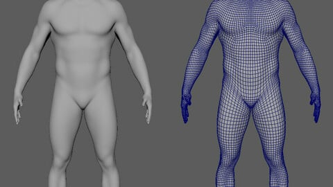 Avatar (Basemesh) for Marvelous Designer