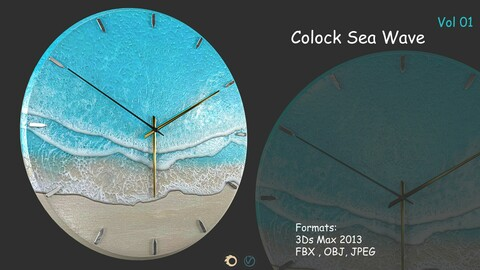 Clock Sea Wave