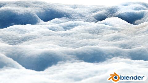 Snow shader for Blender