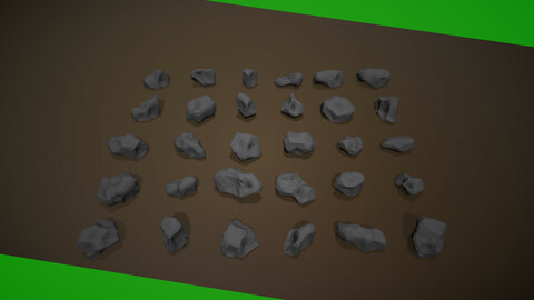 30 Low-Poly Rocks Package