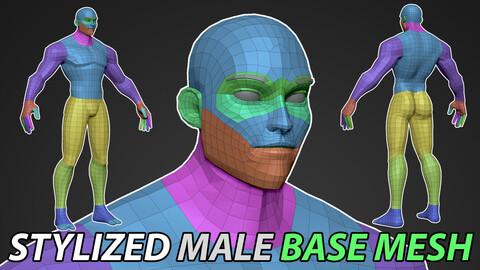 Stylized Male Base Mesh