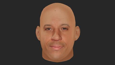 Vin Diesel - Lowpoly head for game