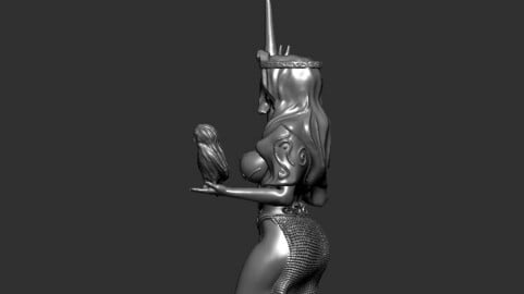 Chess board tabletop project figure : The Queen