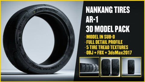 NANKANG TIRES - AR1 3D Model