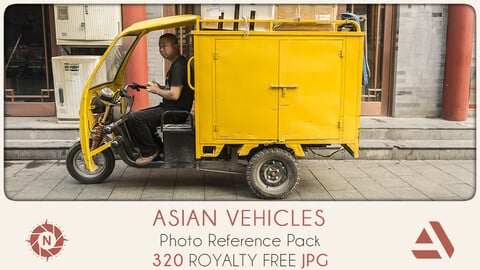 Photo Reference Pack: Asian Vehicles