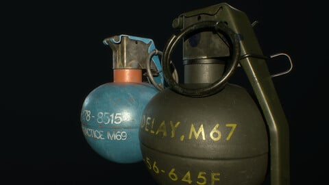 M67 Fragmentation and M69 Practice Grenades