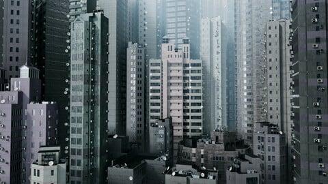 Misty Hong Kong (Blender 2.9 eevee)