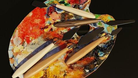 Artist Studio Palette & Knifes Set 190 06