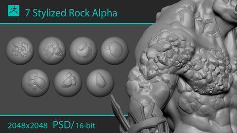 Stylized stone alphas