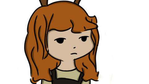 Anna with reindeer ears