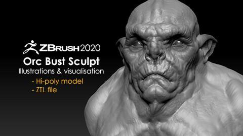 Orc Bust Sculpt