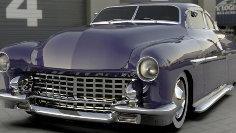 Ford Mercury 1949 Custom Low-poly