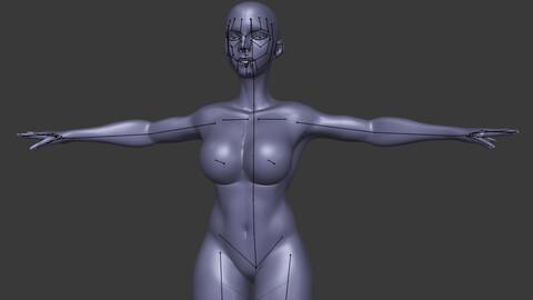 model base of female
