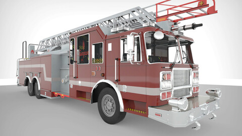 FireTruck Seagrave 2006 43K polys Low-poly