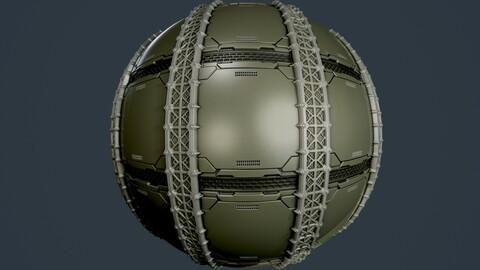 Sci-Fi Military Seamless PBR Texture 86