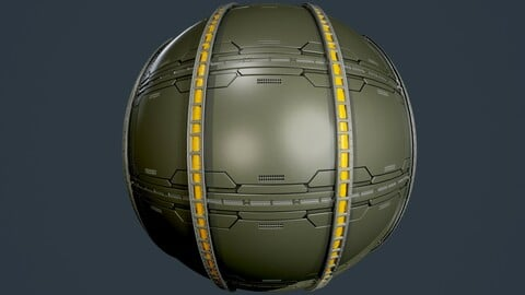 Sci-Fi Military Seamless PBR Texture 87