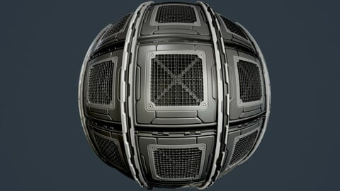 Sci-Fi Military Seamless PBR Texture 89