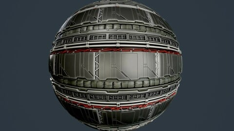 Sci-Fi Military Seamless PBR Texture 96