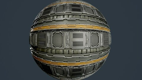 Sci-Fi Military Seamless PBR Texture 100