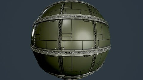 Sci-Fi Military Seamless PBR Texture 101