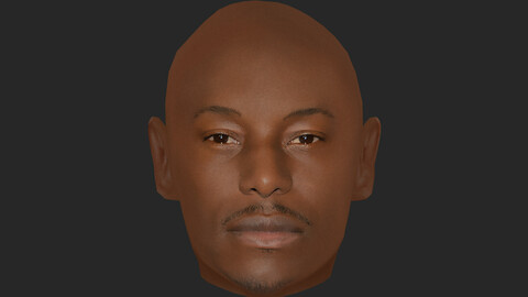 Tyrese Gibson Head - Lowpoly head for game