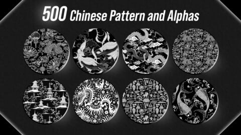 500 Chinese Pattern and Alphas