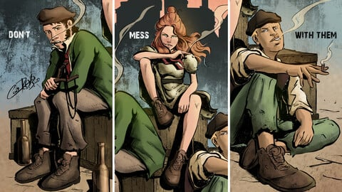 "Comics series ""Gangs of New York"" - Prints and Wallpapers"