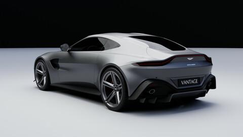 Aston Martin Vantage coupe 2018 3D