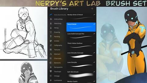 Realism, Concept Art and illustration brush set | Procreate