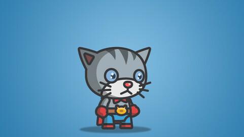Super Cat Character Sprite