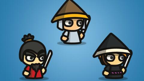 Samurai – Tiny Style Character Sprite