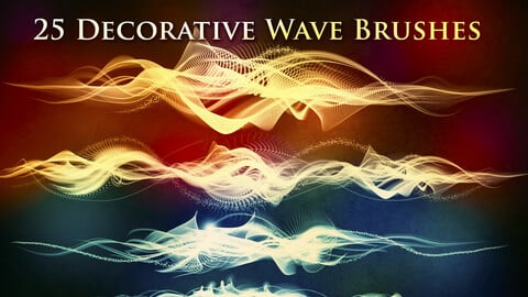 25 Decorative Wave Brushes