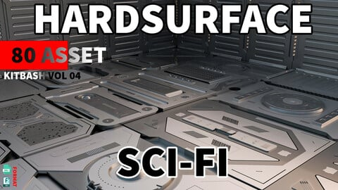 Sci-Fi hardsurface Kitbash Pack 80 - Vol.04