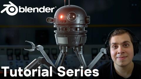 Sci-Fi Robot Drone Creation in Blender Eevee (Complete Tutorial Series)
